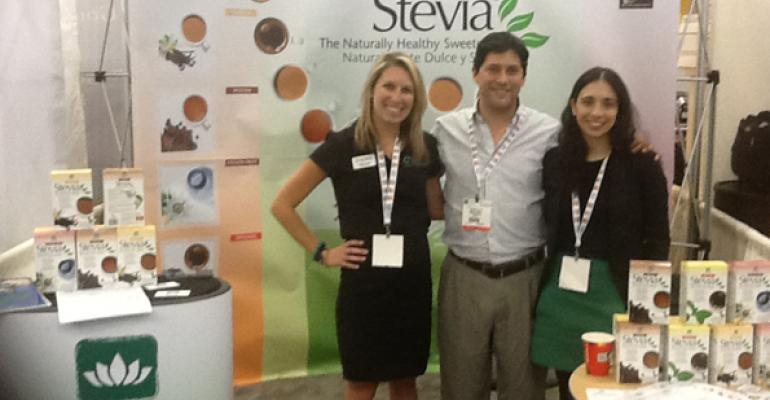 Left to right Ashley Jantzen of Creative Innovations with Roberto Cid managing director of Cid Botanicals and Andrea Cid CEO of Cid Botanicals