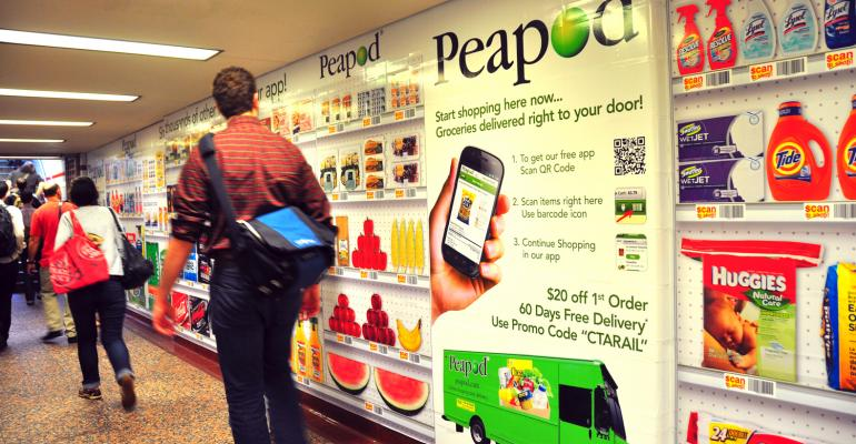 New virtual grocery store Peapod lets consumers shop while they commute