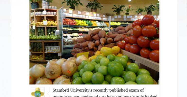 Social-able: Retailers use social media to react to Stanford's organic study