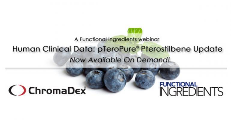 WEBINAR: Human Clinical Data: pTeroPure® Pterostilbene Update
