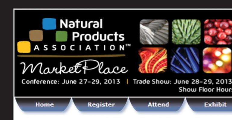 Natural Products Association MarketPlace Tradeshow and Conference suspended for 2013