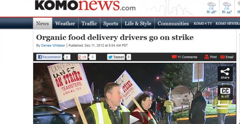 UNFI delivery drivers in Washington go on strike