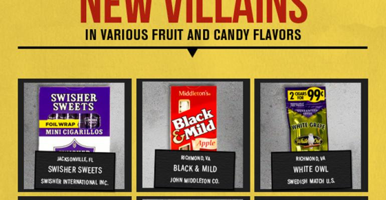 Infographics Americas most wanted tobacco villains vs good guys putting them
