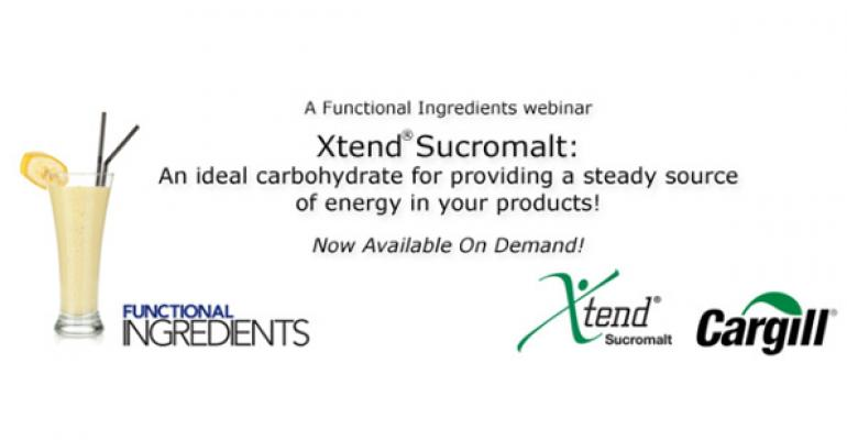 WEBINAR: Xtend® Sucromalt A slowly digestible carbohydrate ideal for providing a steady source of energy in your products!