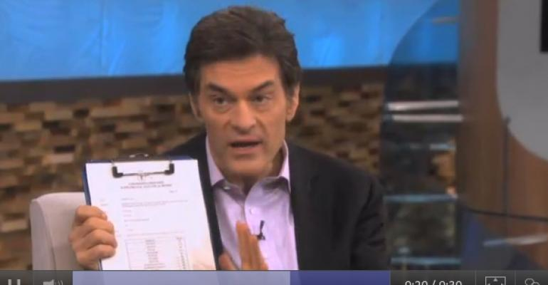 (Dr.) Oz the great and powerful … right?