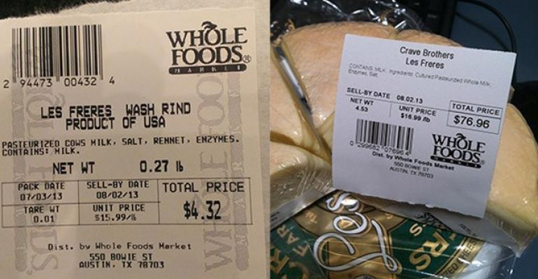 Cheese recall melts distaste for Whole Foods