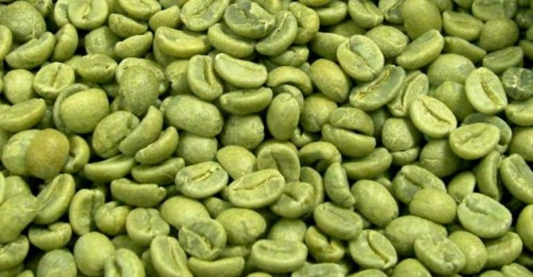 Solvent residues taint green coffee bean extracts