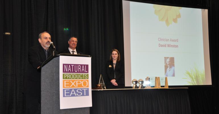 Winston accepts NPA Clinician Award