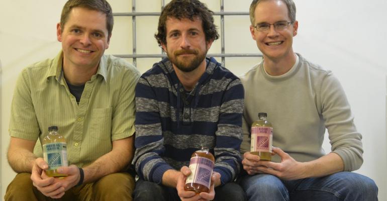 Upstart Kombucha cofounders Caleb Hanson Josh Garner and Brian McKinney