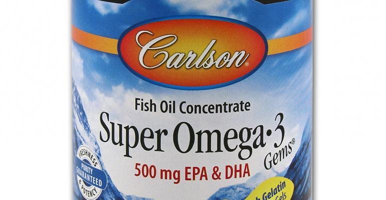 Carlson launches Super Omega-3 Gems in fish gelatin