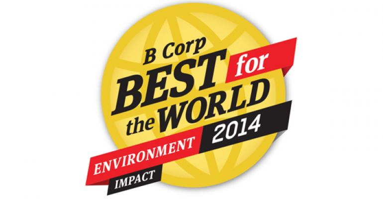B Corp Best for the World Environment Impact