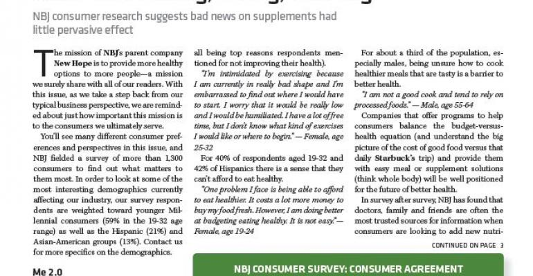 Survey: year of bad press not bad news for supplements, omega-3's