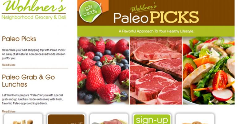 Grocery store launches paleo promotion