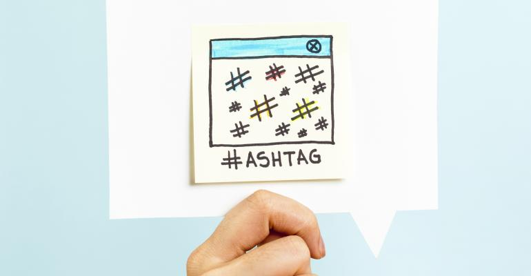 Use hashtags to attract customers
