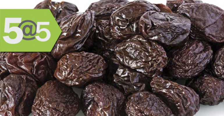 5@5: What's driving organic demand; prunes gaining a higher profile