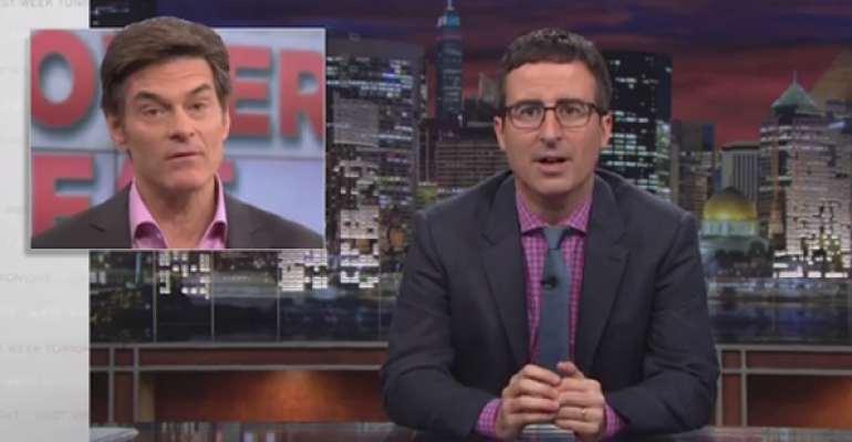 The doctor and the comedian: John Oliver savages Dr. Oz and DSHEA (VIDEO)