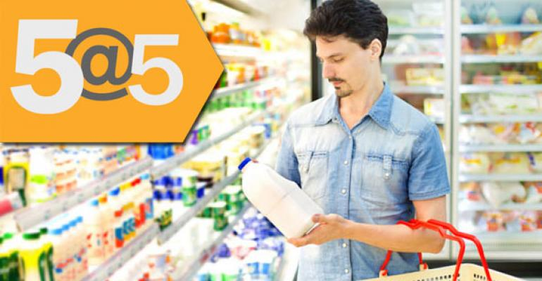5@5: Food brands focus on men; USDA finds more genetically modified wheat