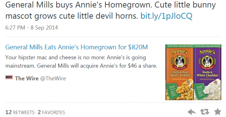 Annie's acquisition by General Mills angers many on social media