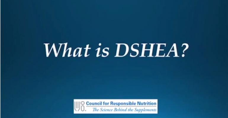 CRN answers: 'What is DSHEA?'