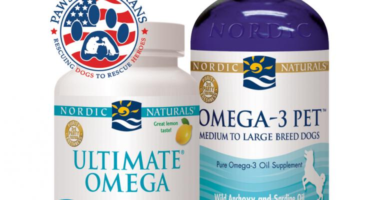 Nordic Naturals supports Paws for Veterans