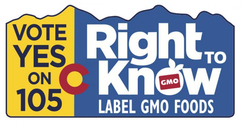 Colorado GMO labeling election initiative