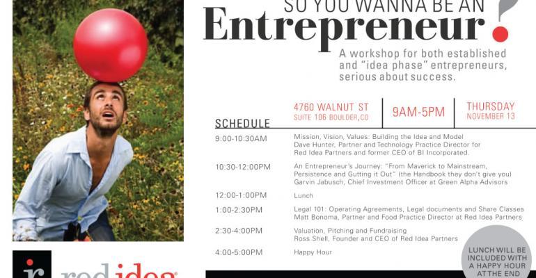 So you wanna be an entrepreneur?
