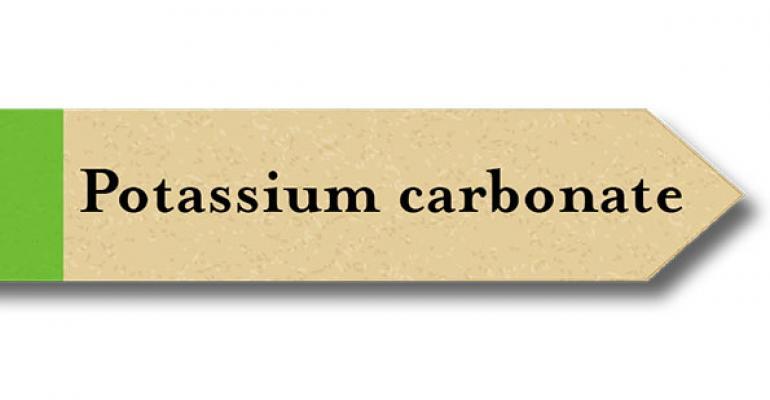 Is potassium carbonate natural?