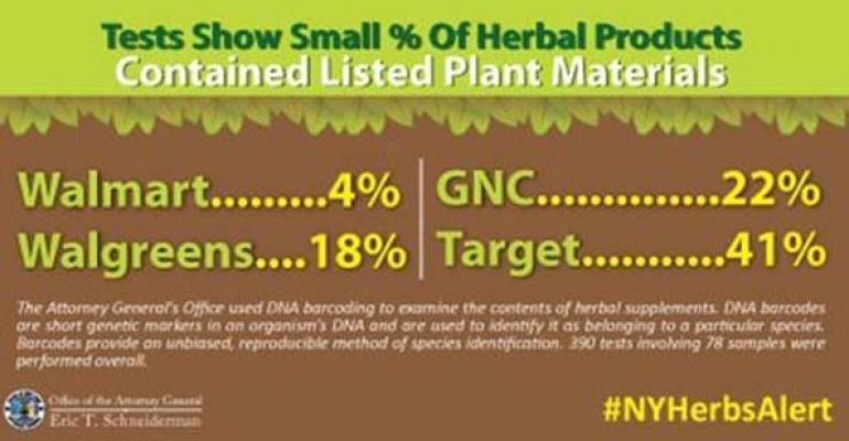New York attorney general cracks open debate over herbal supplements