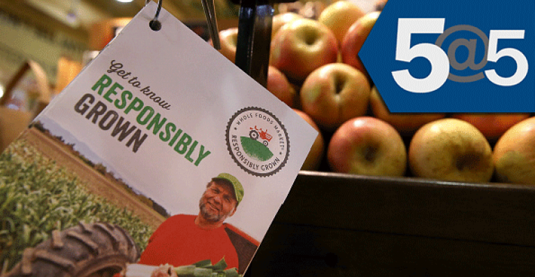 5@5: Organic farmers take issue with Whole Foods' produce ratings | California restricts water use by farmers