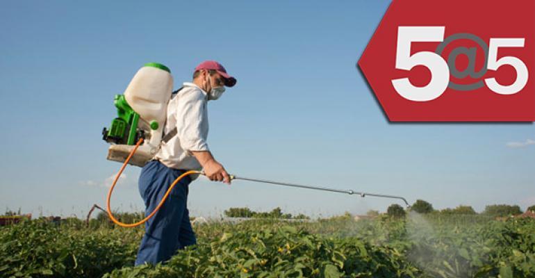 5@5: Pesticide drift problems persist for organic farms | Thrive Market raises $30 million