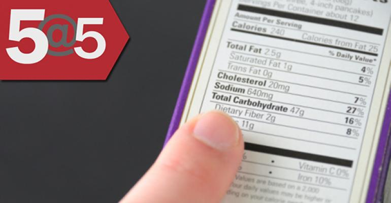 5@5: FDA wants to add more context to proposed 'added sugar' labels | UNFI delays plant opening