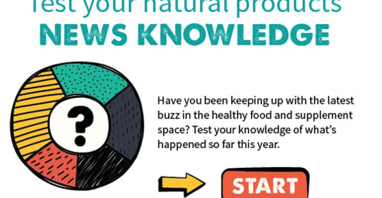 Test your natural products news knowledge with this 5-question quiz