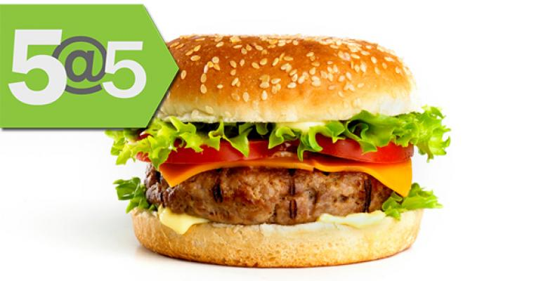 5@5: Sustainability out of U.S. dietary guidelines update | Meet organic burger chain Elevation Burger