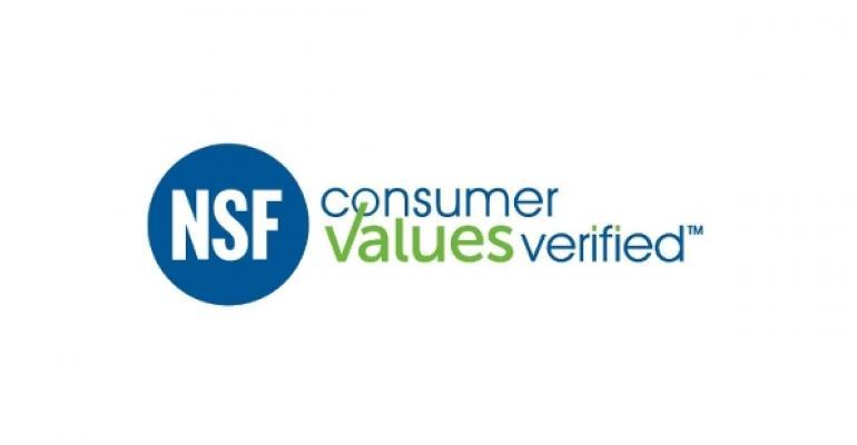 NSF certification verifies values