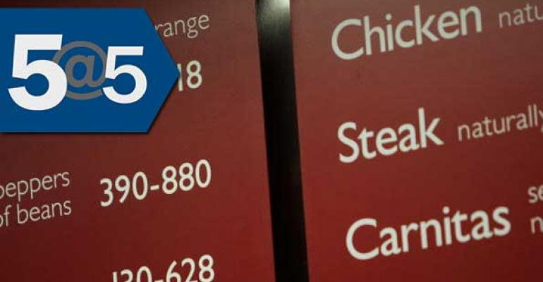 5@5: E. coli outbreak linked to Chipotle | Bittman joins vegan meal delivery start-up