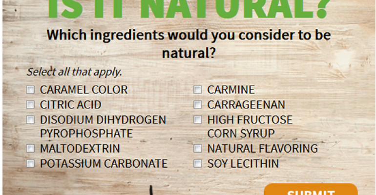 Poll: Are these ingredients natural?