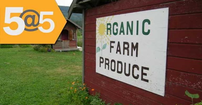 5@5: OTA to propose certification for conventional farms going organic | Hershey to stop using GM sugar