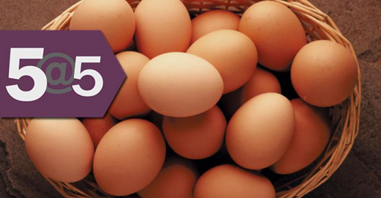 5@5: The complicated path to cage-free eggs for all | Which country is second to U.S. in organic food sales?