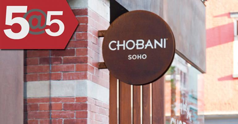 5@5: Chobani chooses first incubator class   Patagonia gets crafty with soil-friendly grain