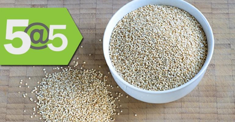 5@5: Quinoa helps locals after all | BPA still everywhere