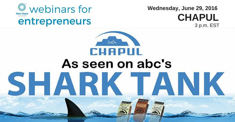 Webinars for Entrepreneurs: The Chapul story of pioneering a new food category