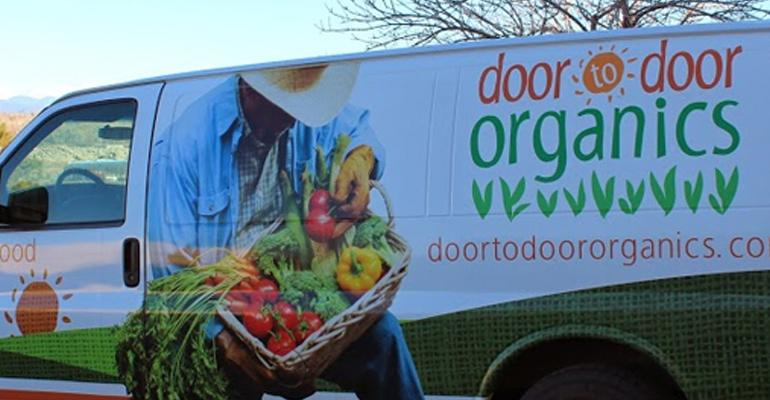 Door to Door Organics delivery truck