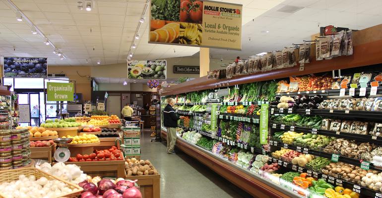 Mollie Stones organic produce section