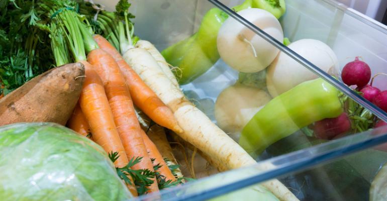 vegetables in consumer refrigerator