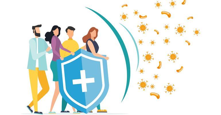 People with shield blocking viruses