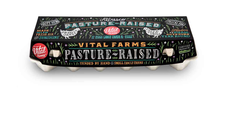 Vital Farms carton of eggs