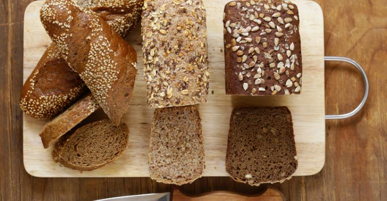 organic bread from flour and seeds
