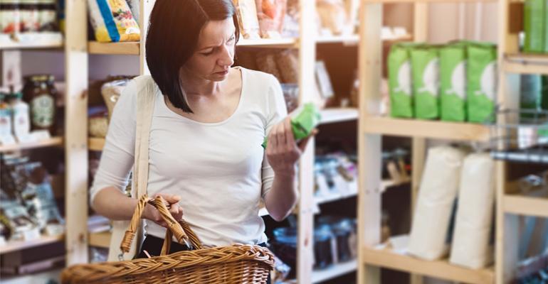 woman shopping natural retail