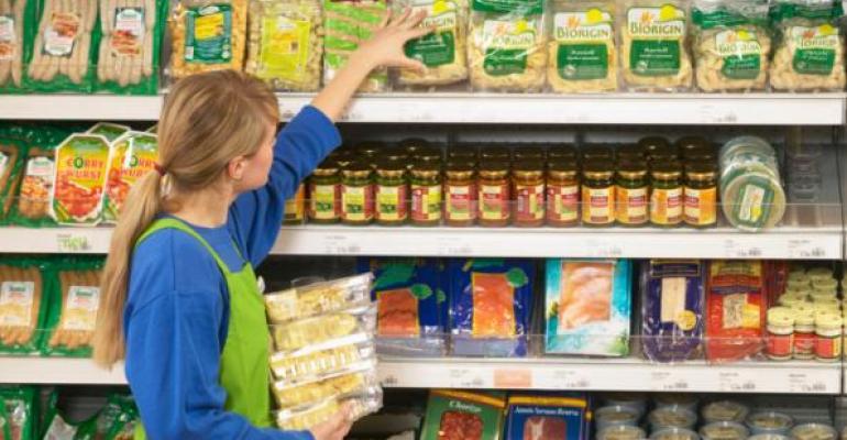 stocking retail shelves