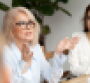 Woman speaking in a meeting